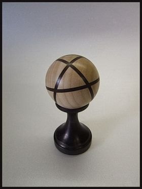 sphère en hêtre segmenté Ø = 65mm